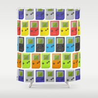 gameboy Shower Curtains featuring GAMEBOY COLOR 2 by soycocon