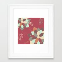 morrocan Framed Art Prints featuring Morrocan Flowers by Studio Samantha