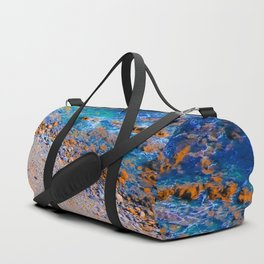 blue water at the ocean with rock and stone in summer Duffle Bag