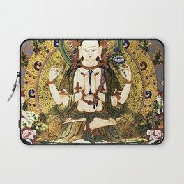 Chenrezig Avalokitesvara Bodhisattva Tibetan Buddhist Gray Laptop Sleeve