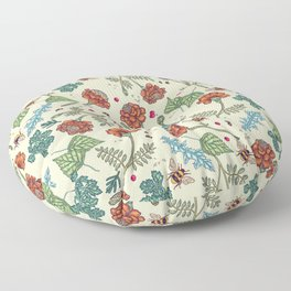 French marigold and bumblebee Floor Pillow