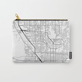 Provo Map, USA - Black and White Carry-All Pouch