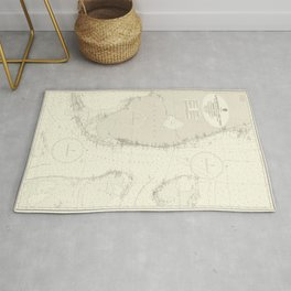 Vintage Map Print - Admiralty Chart No 2866 Cape Kennedy to Key West, 1961 Rug