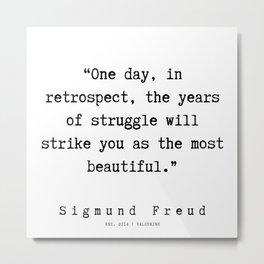 1 |   Sigmund Freud Quotes | 190926 Metal Print