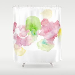 180807 Abstract Watercolour 8 | Colorful Abstract |Modern Watercolor Art Shower Curtain