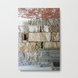 The Missing Brick Metal Print