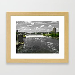 Green to Gray  Framed Art Print