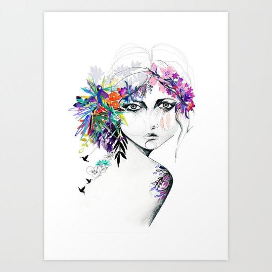 Exotic Girl Art Print