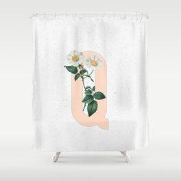Letter 'Q' Monogram Shower Curtain