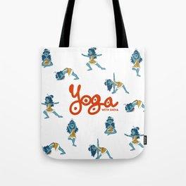 Yoga with Shiva Tote Bag