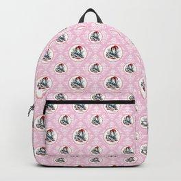 Alice in Wonderland | The Mad Hatter | Tea Party | Pink Damask Pattern | Backpack