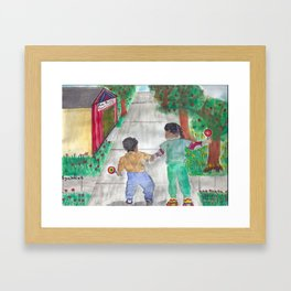 The Candy Store Framed Art Print
