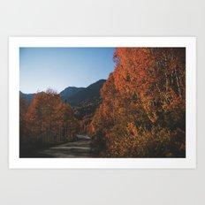 Fall Drive Art Print