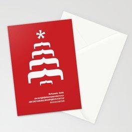 CHRISTMAS TREE - FontLove - CHRISTMAS EDITION Stationery Cards