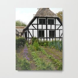 Odense Denmark | Old Danish Village Print | Old Danish Farm | Kitchen Garden Art Print Metal Print