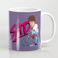 sad Mugs featuring Sad by Chris Piascik