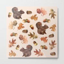 Autumn Pattern Metal Print