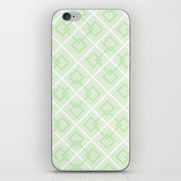 Zesty Green Interlock Cross Pattern iPhone Skin