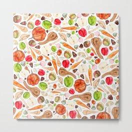 Fruit and Vegetables  Metal Print