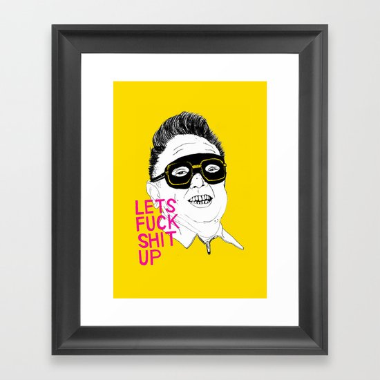 F*ck Sh*t Up Framed Art Print