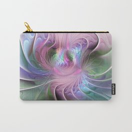 Temperament, Colorful Abstract Fractals Art Carry-All Pouch