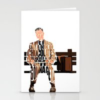 forrest gump Stationery Cards featuring Forrest Gump by A Deniz Akerman