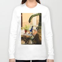 wine Long Sleeve T-shirts featuring Wine Cooler  by Phil Smyth