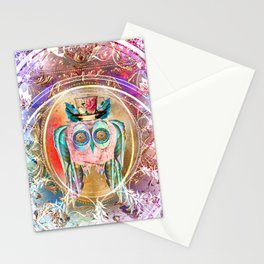 Madhatter Owl Stationery Cards