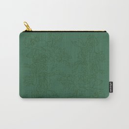 Floral Ink - Emerald & Olive Ranunculus Carry-All Pouch