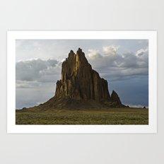 Shiprock, New Mexico. Art Print