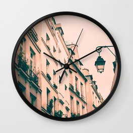 Paris Marais street Wall Clock