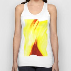 Abstract Art - Yellow & Red Unisex Tank Top