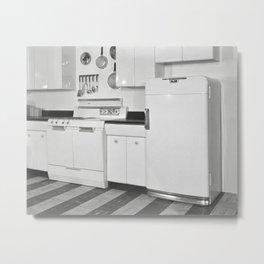 Mid-Century Kitchen, 1951. Vintage Photo Metal Print