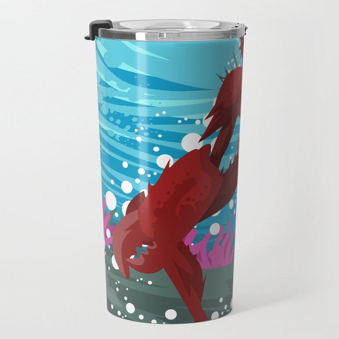 crab evil monster Travel Mug