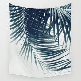 Palm Leaves Green Blue Vibes #2 #tropical #decor #art #society6 Wall Tapestry