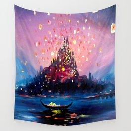 I see the lights Wall Tapestry