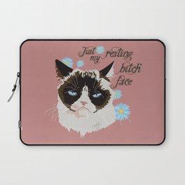 Resting Cat Face Laptop Sleeve