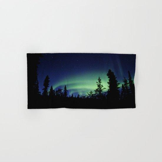 Aurora Borealis Landscape Hand & Bath Towel