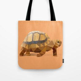 Low Poly Hermann's Tortoise Tote Bag
