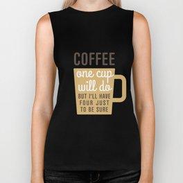 One Cup Of Coffee Biker Tank