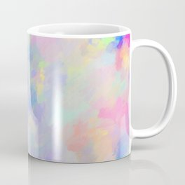 Secret Garden Colorful Abstract Impressionist Painting Pattern Coffee Mug