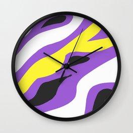 Zebra Print - Nonbinary Wall Clock