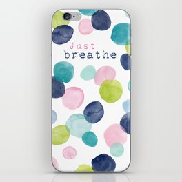 Just Breathe Watercolor iPhone Skin