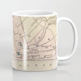 Vintage Map of Long Branch NJ (1872) Coffee Mug