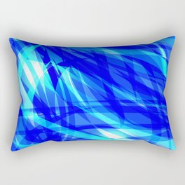 Vector glowing water background made of blue sea lines. Rectangular Pillow