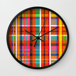 Madras Bright Check Wall Clock