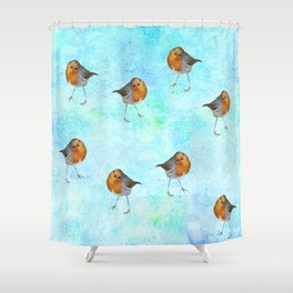 Robin -The visitor Shower Curtain