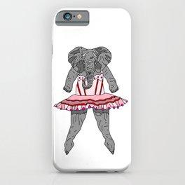 Elephant Ballerina Tutu iPhone Case