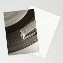 Music From a Vintage 45 RPM Record Playing on a Turntable 3 Stationery Cards