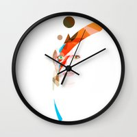 aladdin Wall Clocks featuring Bowie - Aladdin Sane by lazylaves